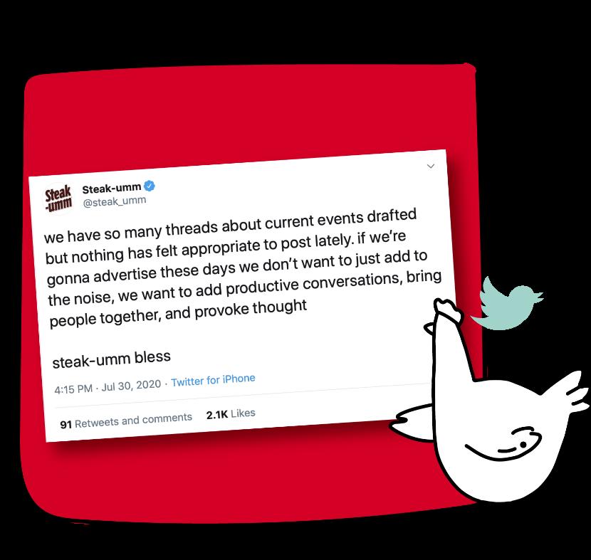 Steak-Ummm's is back and serving up honesty via twitter.