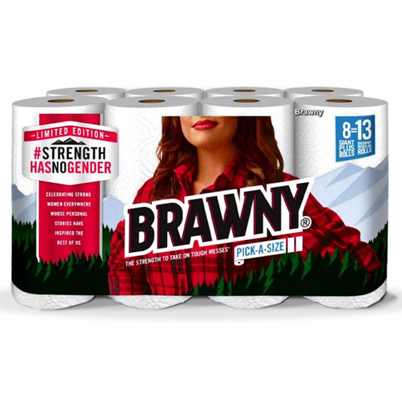 Brawny Strength Has No Gender paper towels