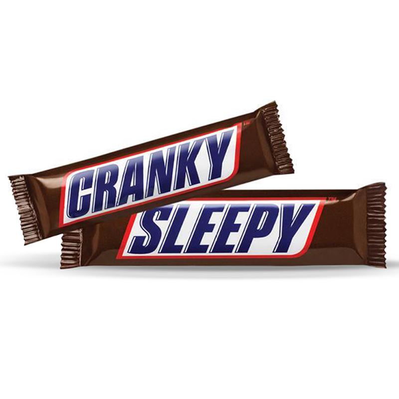 Snickers Cranky Sleepy Packs