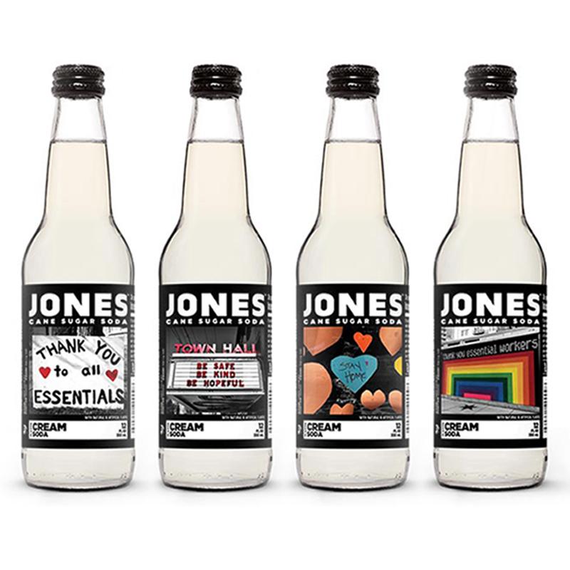 Jones Soda messages of hope bottles