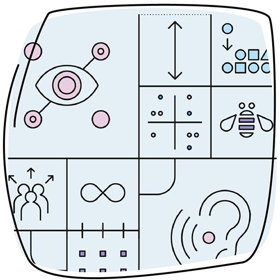 illustration depicting IBM's Accessible Design guide