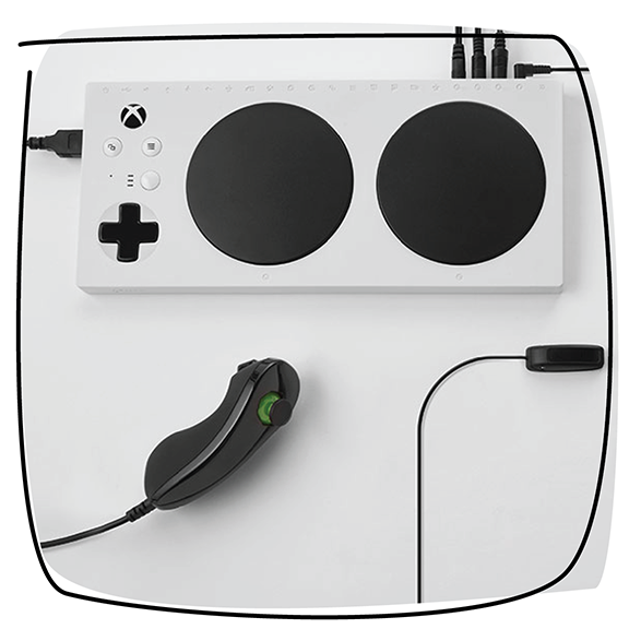 photo of the Xbox Adaptive Controller